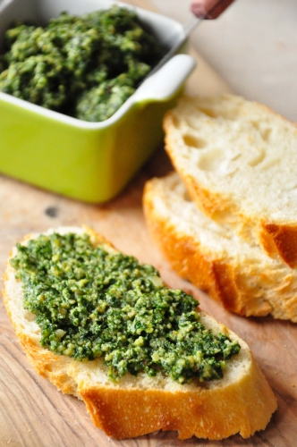 Kale Lemon Walnut Pesto