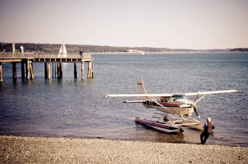 Arriving in Port Townsend by Float Plane